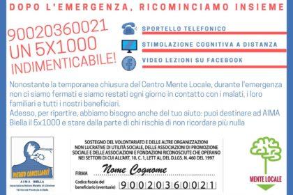 logo 5xMille AIMA Biella